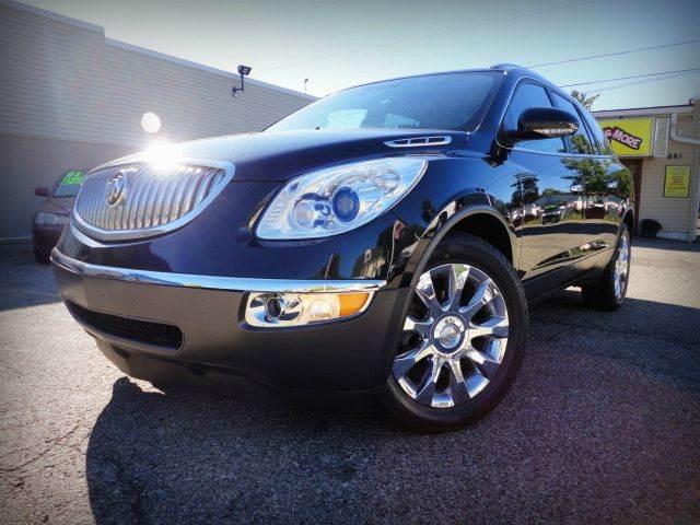 2012 BUICK ENCLAVE PREMIUM AWD carbon black metallic beautiful 2012 buick enclave premium with al
