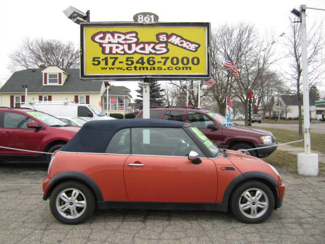 2005 MINI COOPER CONVERTIBLE orange one owner - no accidents 2005 mini cooper convertible - mini