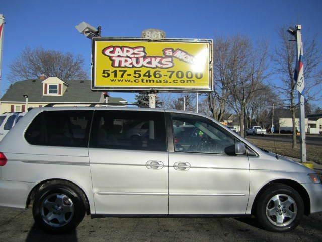 2001 HONDA ODYSSEY EX 4DR MINIVAN silver abs - 4-wheel anti-theft system - alarm captain chairs