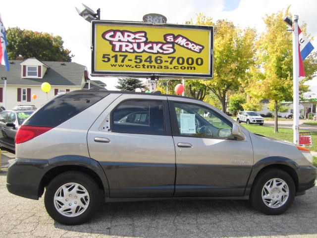 2002 BUICK RENDEZVOUS CXL AWD 4DR SUV tan  2002 buick rendezvous cxl - awd with third row leath