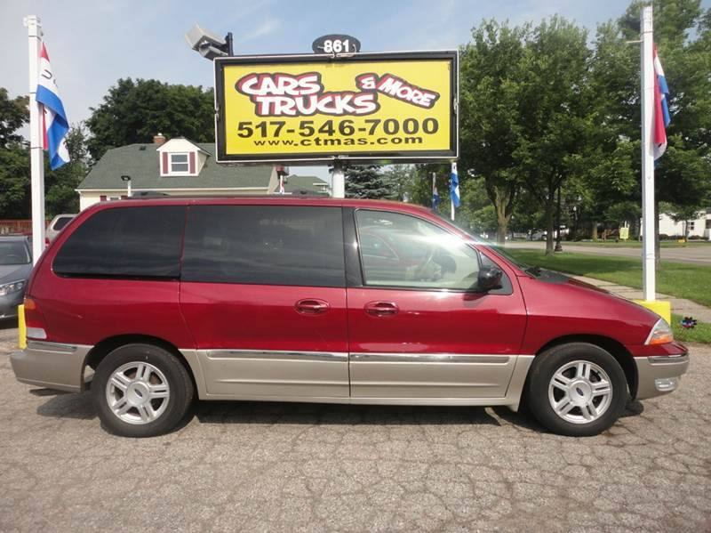 2003 FORD WINDSTAR SEL 4DR MINI VAN burgundy very nice low mileage used minivan - 2003 ford winds