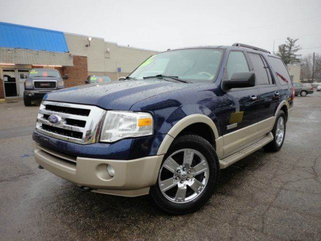 2008 FORD EXPEDITION EDDIE BAUER 4X4 SUV dark blue pearlcoat clean carfax only two previous owner