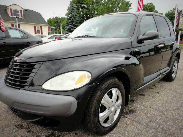 2001 CHRYSLER PT CRUISER BASE 4DR WAGON black clearcoat local trade - clean autocheck only three