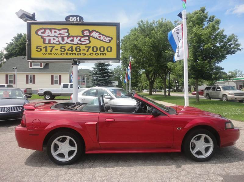 2001 FORD MUSTANG GT DELUXE 2DR CONVERTIBLE red 2001 ford mustang new to our inventory more inf