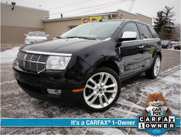 2010 LINCOLN MKX BASE AWD 4DR SUV tuxedo black metallic one owner - no accident beautiful 2010 lin