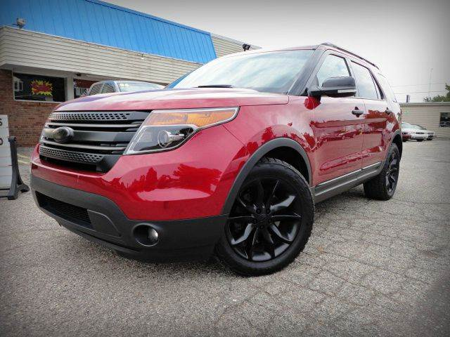 2013 FORD EXPLORER XLT AWD ruby red metallic beautiful one owner 2013 ford explorer xlt with 4wd
