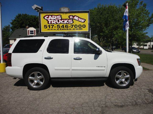2007 CHEVROLET TAHOE LTZ 4DR SUV 4WD white  loaded   2007 chevrolet tahoe ltz - 2 owner vehicle