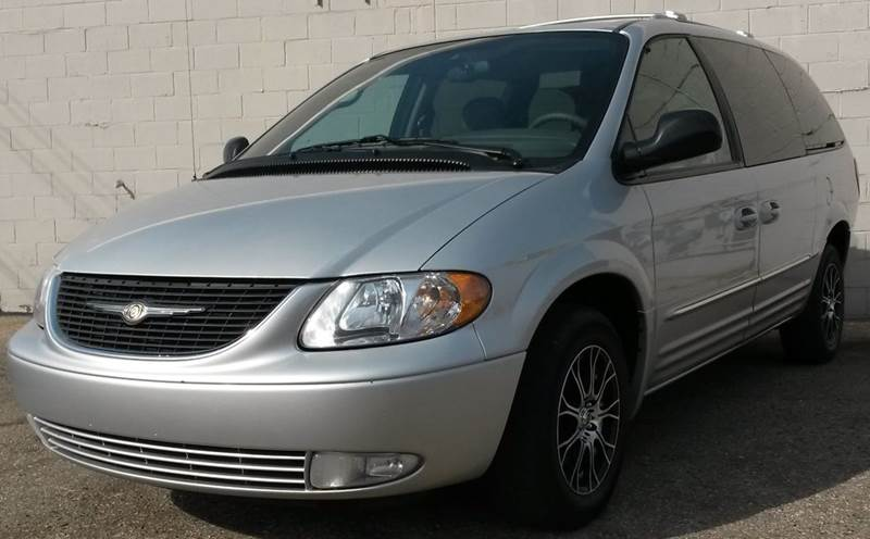 2003 CHRYSLER TOWN AND COUNTRY LIMITED 4DR EXTENDED MINI VAN silver  2003 chrysler town  countr