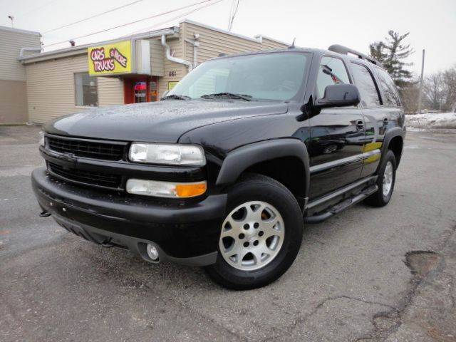2004 CHEVROLET TAHOE Z71 4WD SUV black clean   2004 chevrolet tahoe z71 4wd with the durable 53