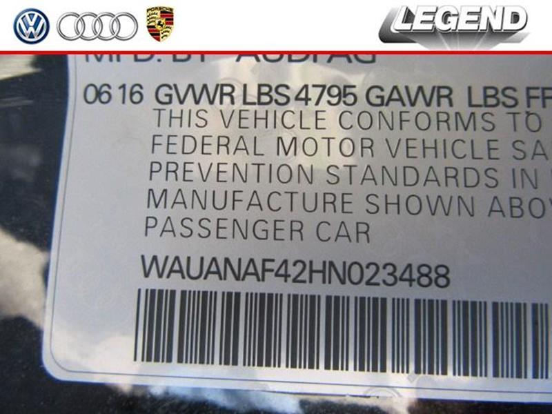 2017 Audi A4 AWD 2.0T quattro Premium 4dr Sedan 7A - Massapqua NY