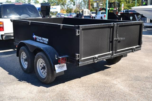 2015 TEXAS PRIDE 6ft. by 10ft. DUMP TRAILER