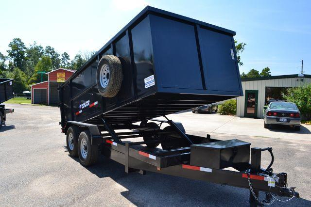 2015 TEXAS PRIDE 7' by 16' DUMP TRAILER  - Conroe TX