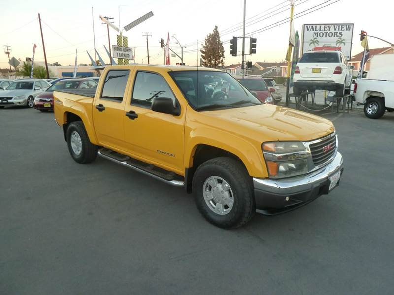 2005 gmc canyon 4dr crew cab z71 sle rwd sb in whittier ca for Valley view motors whittier ca