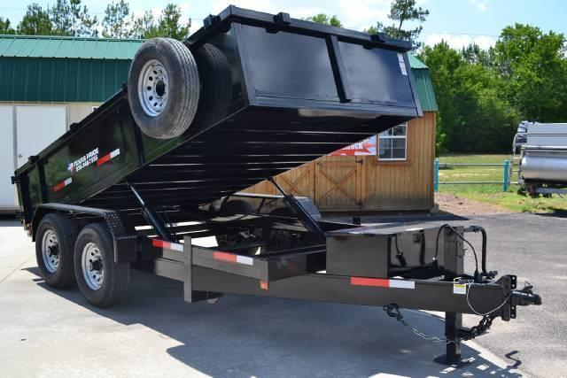 2015 TEXAS PRIDE 7' by 12' DUMP TRAILER