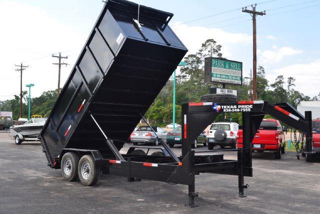 2014 TEXAS PRIDE 16' Dump Trailer Special