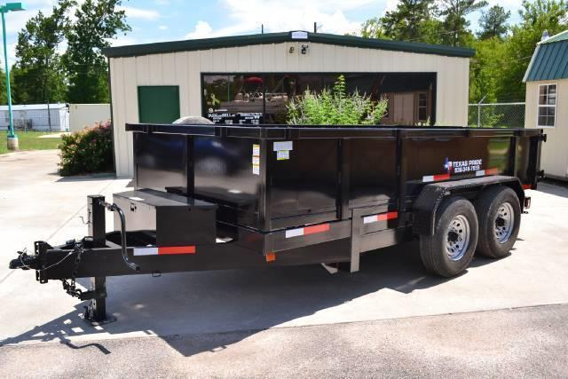 2015 TEXAS PRIDE 7' by 14' DUMP TRAILER