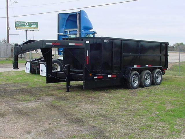 2015 TEXAS PRIDE 7' by 16' DUMP TRAILER