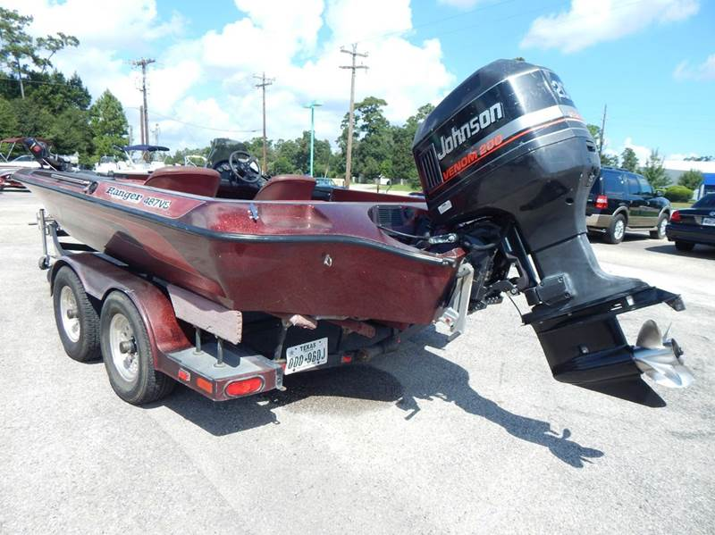 1995 Ranger 487vs Bass Boat In Conroe Tx Park And Sell