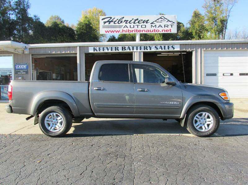 2004 toyota tundra 4dr double cab limited 4wd sb v8 in lenoir nc hibriten auto mart. Black Bedroom Furniture Sets. Home Design Ideas