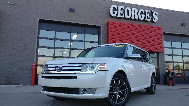 2012 FORD FLEX LIMITED 4DR CROSSOVER white platinum tricoat carfax 1 owner so quiet inside you c