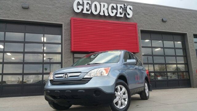 2008 HONDA CR-V EX-L AWD 4DR SUV glacier blue pearl carfax 1 owner and no accidents awd excelle