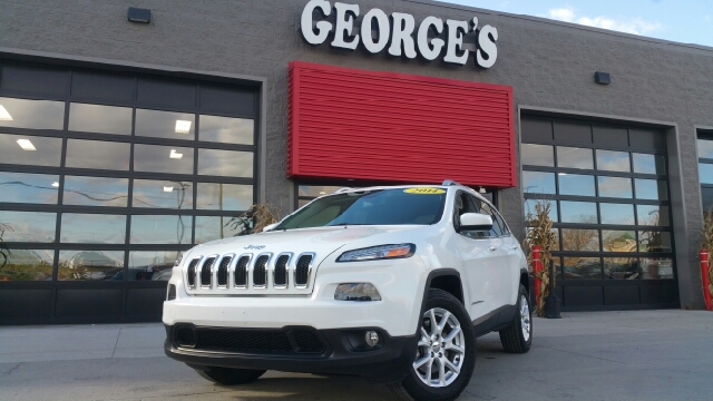 2014 JEEP CHEROKEE LATITUDE 4X4 4DR SUV bright white clearcoat carfax no accidents 4 wheel drive