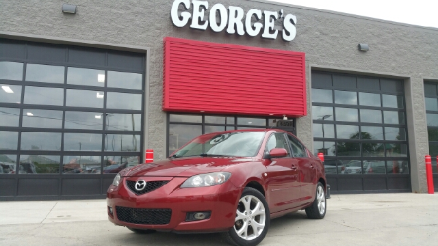 2009 MAZDA MAZDA3 I SPORT 4DR SEDAN 4A copper red mica wow check out those gas savings good fue