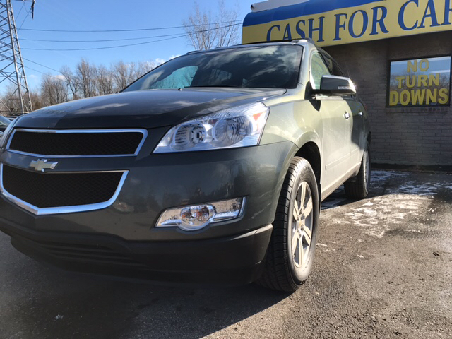 2011 CHEVROLET TRAVERSE LT 4DR SUV W1LT green carfax 1 owner and no accidents sips gas like a s