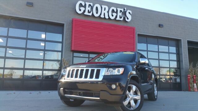 2013 JEEP GRAND CHEROKEE OVERLAND 4X4 4DR SUV brilliant black crystal pearl carfax 1 owner 4wd g