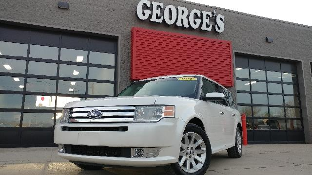 2009 FORD FLEX SEL CROSSOVER 4DR white platinum tricoat carfax 1 owner talk about a deal ford f