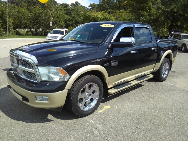 2011 RAM RAM PICKUP 1500 LARAMIE LONGHORN 4X4 4DR CREW CA black carfax 1 owner and no accidents h