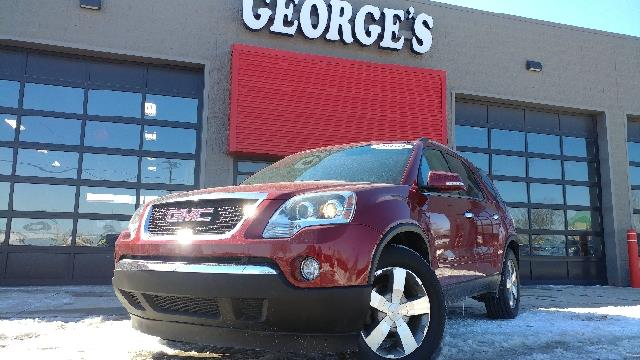 2010 GMC ACADIA SLT-1 AWD 4DR SUV red jewel tintcoat carfax 1 owner awd and leather what an outs