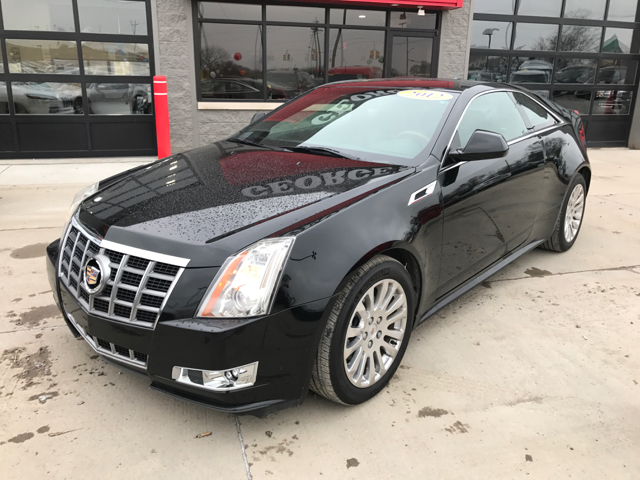 2012 CADILLAC CTS 36L PREMIUM AWD 2DR COUPE black raven carfax 2 owners and no accidents awd a