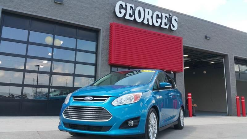 2013 FORD C-MAX HYBRID SEL 4DR WAGON blue candy metallic carfax 1 owner 20l i4 atkinson-cycle h