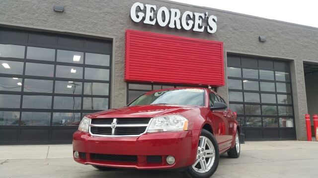 2008 DODGE AVENGER SXT 4DR SEDAN inferno red crystal pearlcoat move over gas-guzzlers theres a