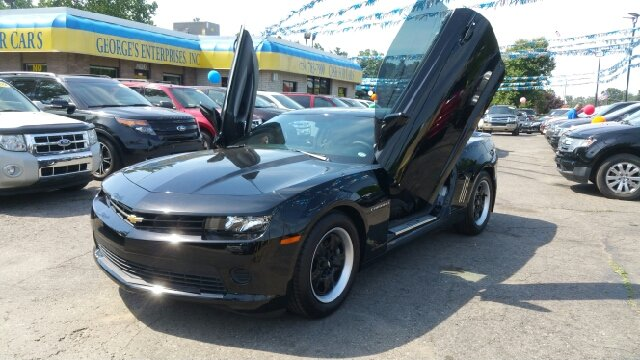 2014 CHEVROLET CAMARO LS 2DR COUPE W1LS black carfax one owner and no accidents lots of tread le