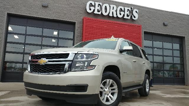 2015 CHEVROLET TAHOE LS 4X4 4DR SUV champagne silver metallic 2-stage unlocking doors 4wd selecto