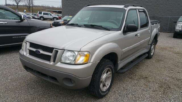 2003 FORD EXPLORER SPORT TRAC XLT 4DR CREW CAB SB RWD silver birch metallic carfax 2 owners and n