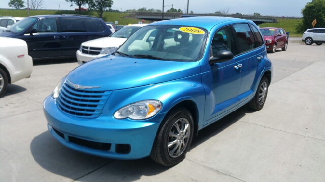 2008 CHRYSLER PT CRUISER BASE 4DR WAGON surf blue pearlcoat stepping in and out is as easy as the