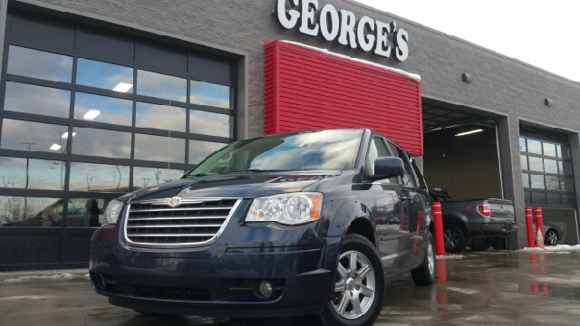 2008 CHRYSLER TOWN AND COUNTRY TOURING 4DR MINI VAN modern blue pearlcoat cloth dutiful antilock