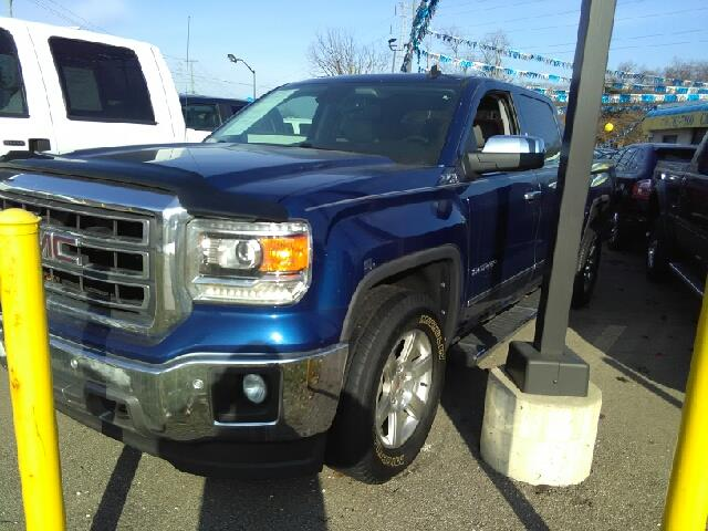 2014 GMC SIERRA 1500 SLT 4X4 4DR CREW CAB 58 FT SB blue carfax 2 owners and no accidents 6-spee