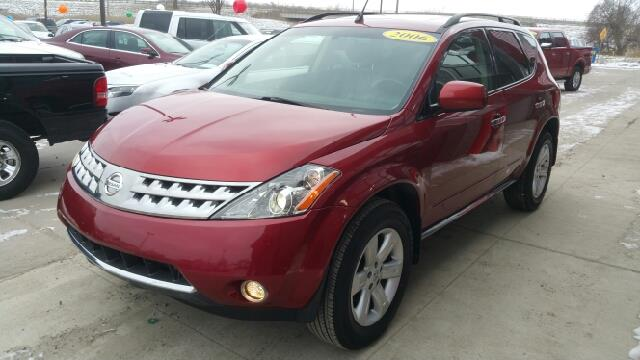 2006 NISSAN MURANO SL AWD 4DR SUV sunset red pearl metallic cvt with xtronic and awd a great dea
