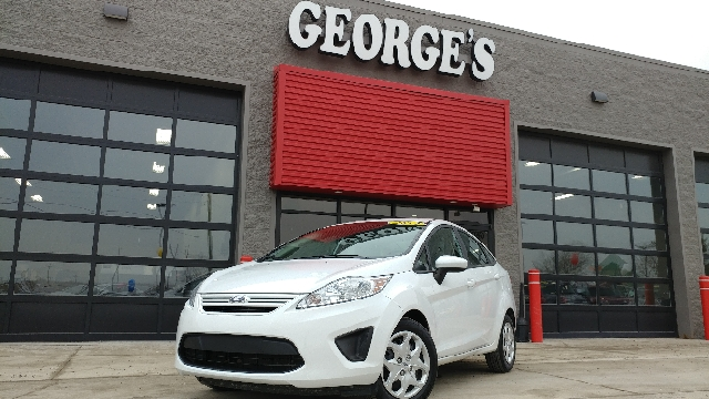 2012 FORD FIESTA S 4DR SEDAN oxford white carfax 1 owner and no accidents 5 speed a great deal