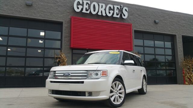 2011 FORD FLEX LIMITED AWD 4DR CROSSOVER white platinum pearl carfax 2 owners and no accidents a