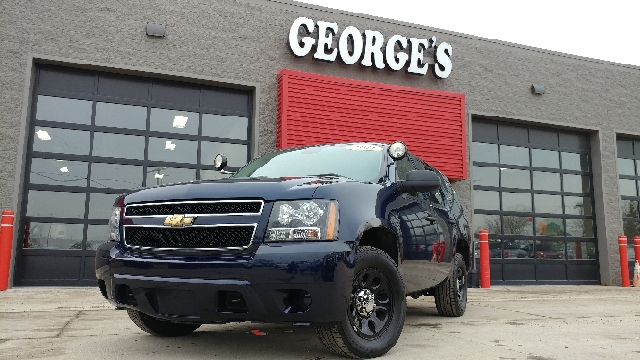 2011 CHEVROLET TAHOE POLICE 4X2 4DR SUV dark blue metallic carfax 1 owner and no accidents cloth