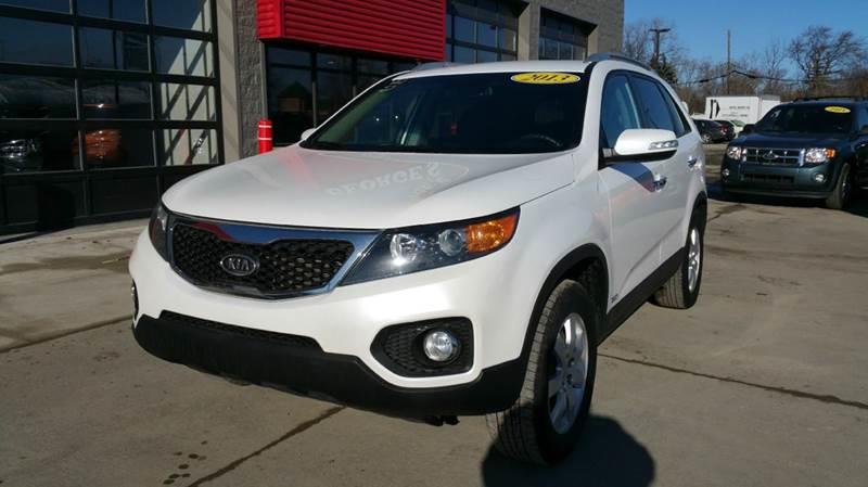 2013 KIA SORENTO LX AWD 4DR SUV snow white pearl carfax 1 owner awd king-size traveling chambers