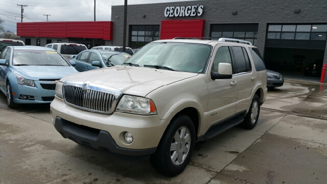 2005 LINCOLN AVIATOR LUXURY AWD 4DR SUV ivory parchment clearcoat carfax no accidents awd wet-w