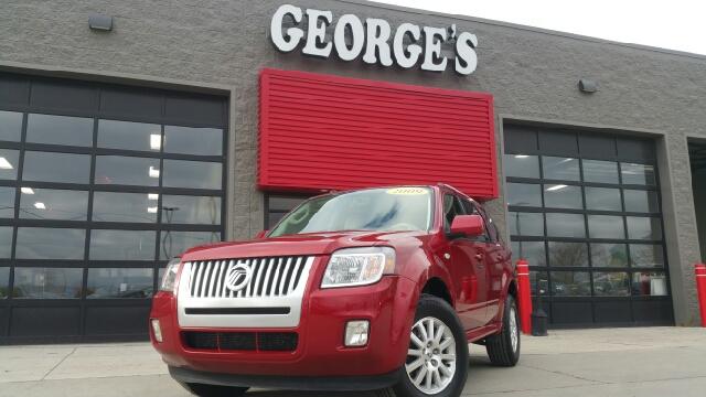 2009 MERCURY MARINER PREMIER V6 4DR SUV sangria red metallic carfax 1 owner duratec 30l v6 ivct