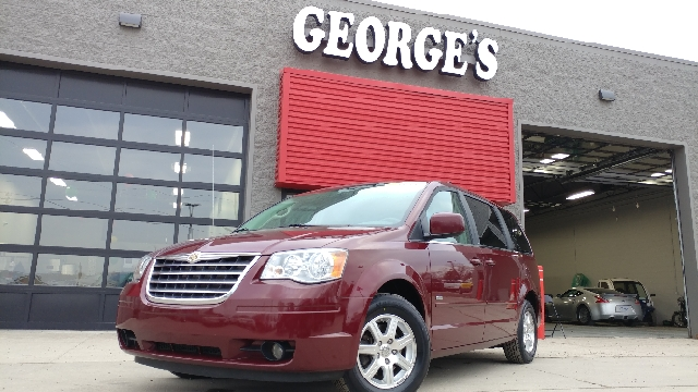 2008 CHRYSLER TOWN AND COUNTRY TOURING 4DR MINI VAN crimson crystal pearl 2-stage unlocking doors