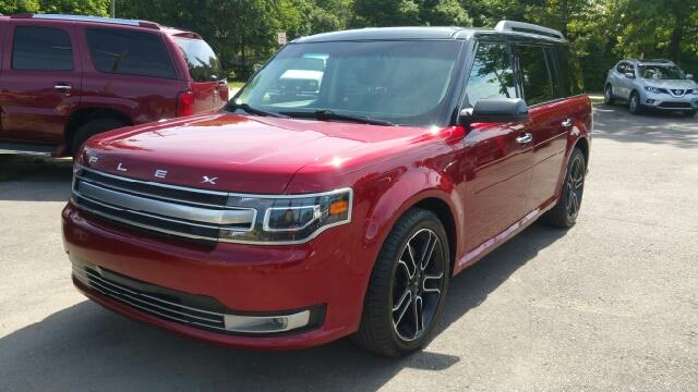 2013 FORD FLEX LIMITED AWD 4DR CROSSOVER ruby red tinted clearcoat carfax one owner and no acciden